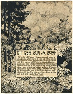 Image by favourite artist Tom Thomson and poetry by Henry Van Dyke