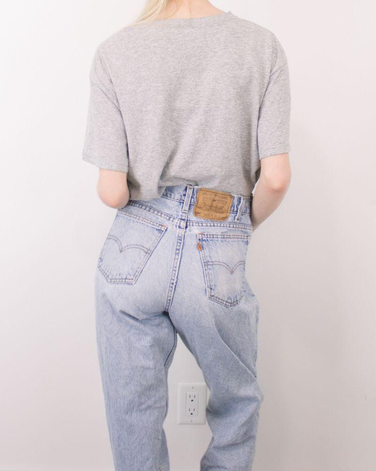 Vintage (MEDIUM) Levis 550 High Waisted Denim Jeans