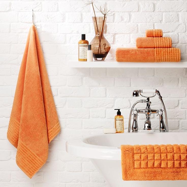 john lewis spa towels clementine a nice pop of orange