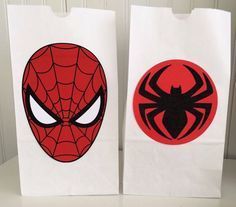 12 Spiderman Favor bags, Spiderman Party Bags, Spiderman Party Favors, Spiderman Birthday Party Decorations, Superhero Birthday Party