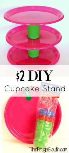 I'm gearing up for a little kiddo party and was in need of something to hold cupcakes. Of course I'm not going to shell out $20+ for a fancy cupcake stand,