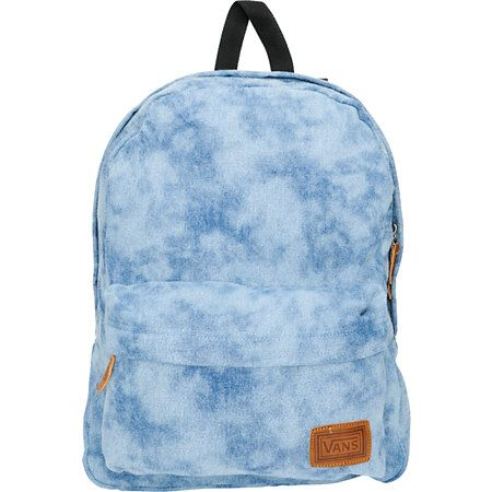 If you get Deserted at least you'll have all your stuff! The Vans Deserted Snake tie dye denim backpack has enough room for your survival gear. The tie dye denim has a cool look and the 22L size can hold all your school supplies and more. The front zipper pocket has organization features so you know where all your stuff is stored. The leather pulls and Vans patch logo add some earthy accents to the awesome Deserted Snake backpack.Shop all style of Vans Backpacks right here!