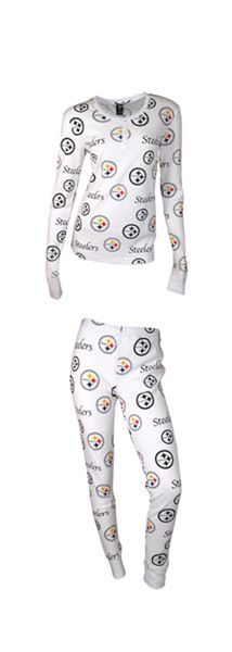 Pittsburgh Steelers Women's Uptown Longsleeve Henley Sleep Set
