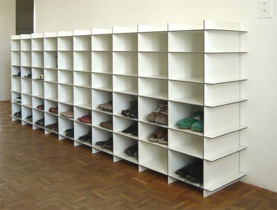 Schuhregal aus schuhkartons bauen  12 besten Schuhregale Bilder auf Pinterest   Ankleidezimmer ...