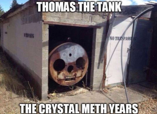 It's Thomas the Train but still funny!!