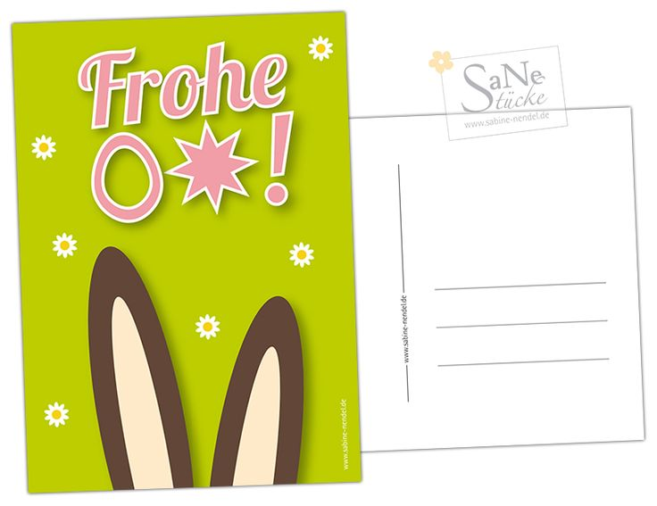 Osterkarte zum selber kostenlos Ausdrucken von SaNe-Stücke!
