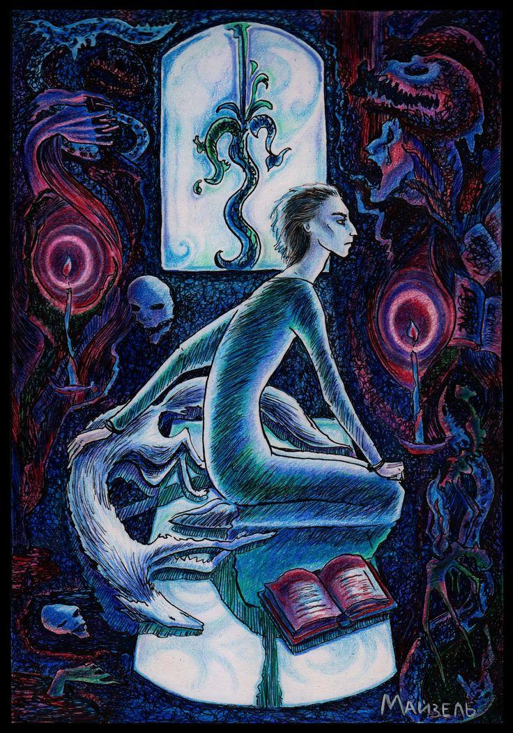 (с) Инна Майзель. «Мертвый лис.   Будущий безумный Рыбник».