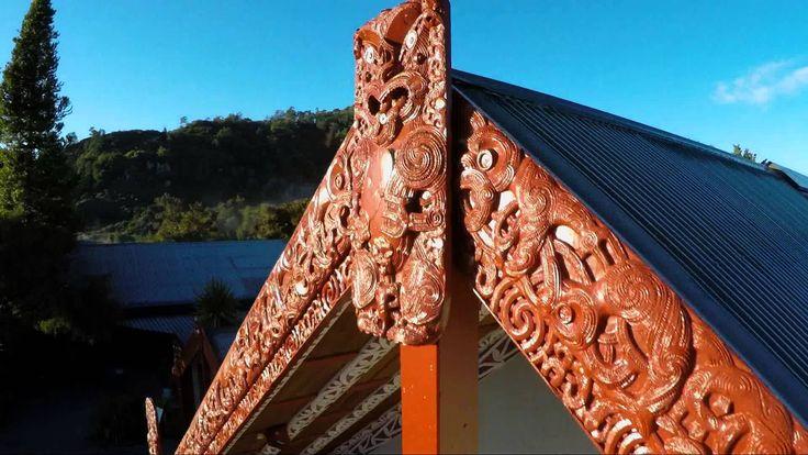 """Rotowhio marae """"Te Marae o Rotowhio"""" at Te Puia , Rotorua , NZ"""