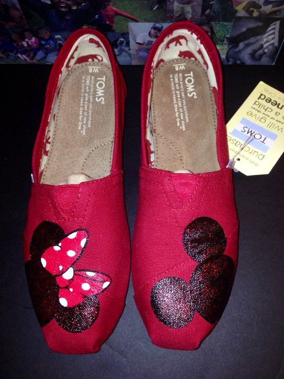 Disney Toms- Sparkly Mickey/Minnie