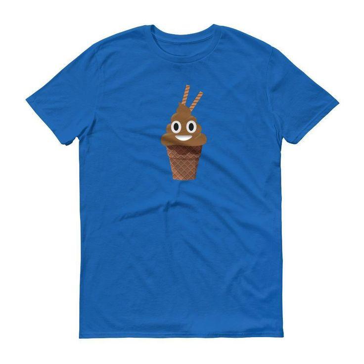 Funny Poop chocolate Ice Cream Emoji t shirt