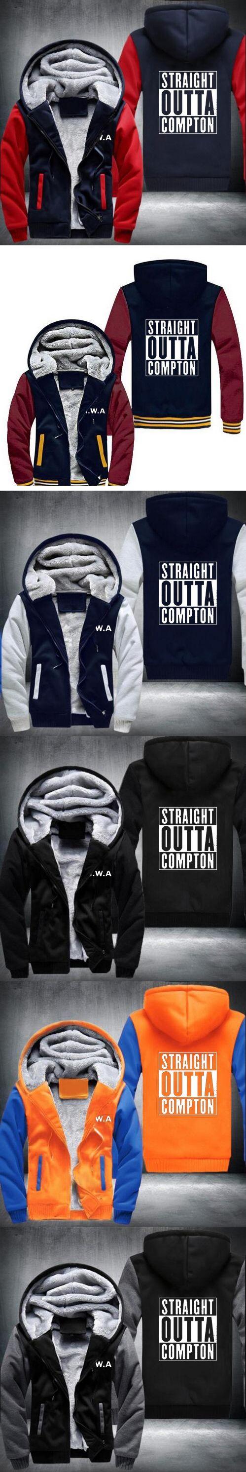 new style Straight Outta Compton NWA California GOTHIC Eazy E NWA Dr. Dre Hoodies men Thicken Fleece Coat USA EU size
