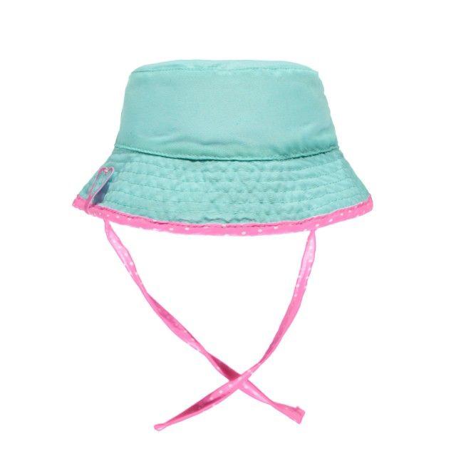 Swimwear Reversible Bucket Hat with Strings Multi Pink /Chapeau bob réversible à cordons Souris Mini