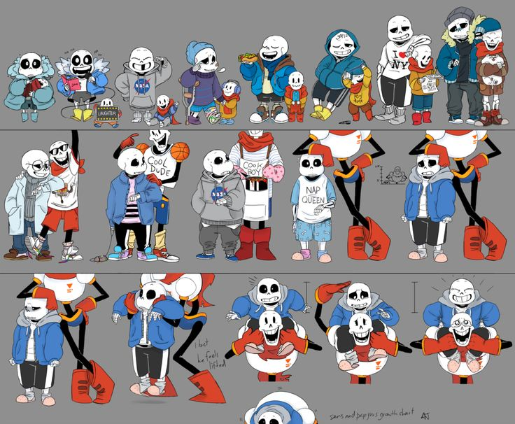** * i just want to point out that the shirt sans is wearing in the illustration where pap is in his cool dude clothes used to be white but was ruined in the wash by the shitloads of red clothes ow...