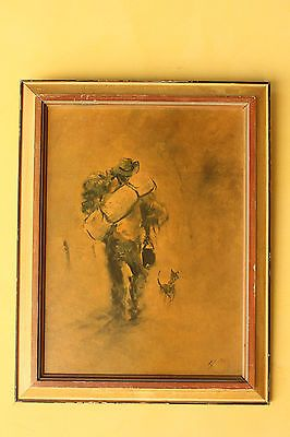 Vintage Australian Swagman and Dog print in Home & Garden, Home Décor, Posters & Prints | eBay