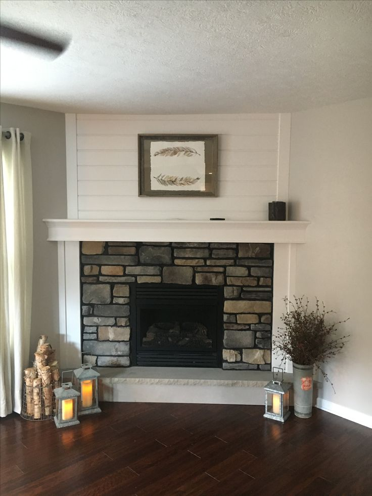 Living Room Modern Farmhouse Corner Fireplace