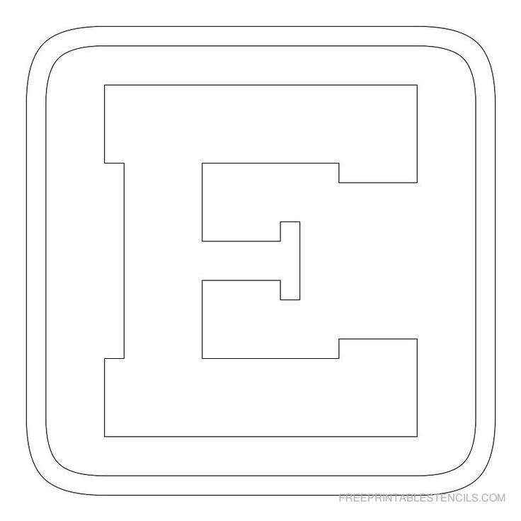 6 Inch Printable Block Letters
