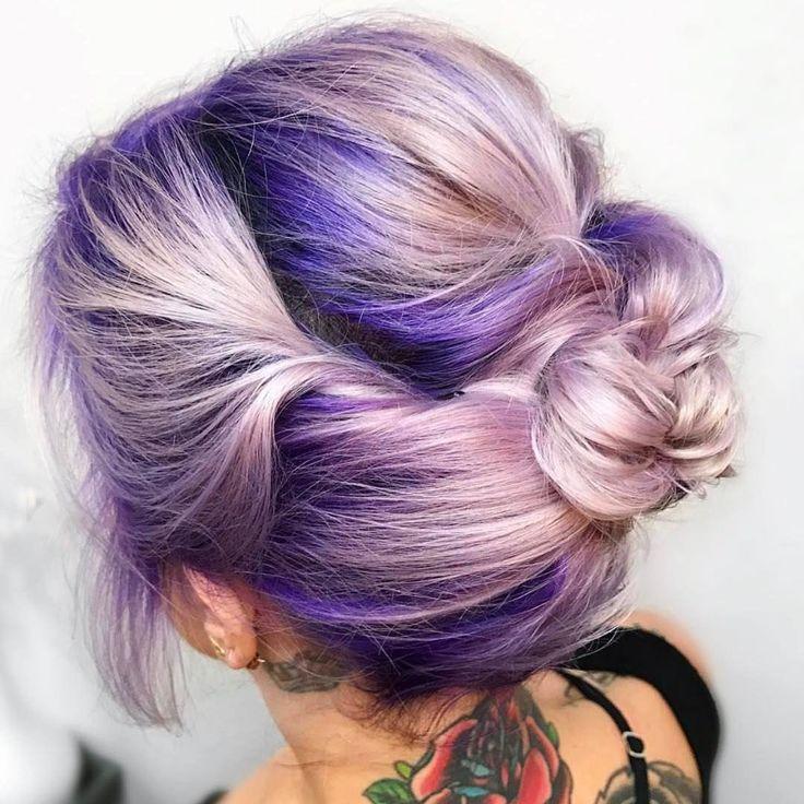Ombré purple hair