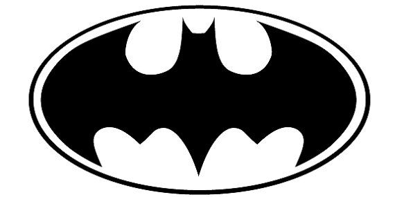 Batman Logo Black And White Places