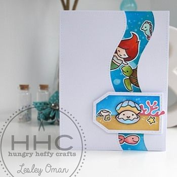 Looky Looky! A vibrant @lawnfawn peekaboo card featuring a fun underwater scene…
