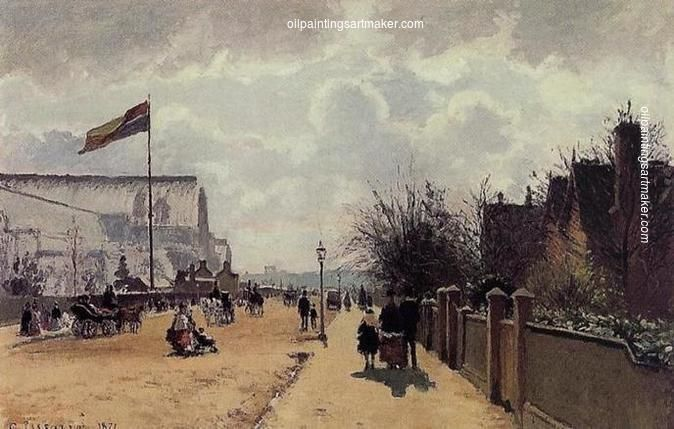 Camille Pissarro The Crystal Palace, London, 1871 art painting sale, painting Authorized official website