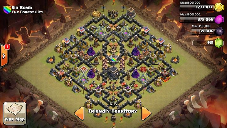Clash of Clans   4th mortar Th9 layout + War Base