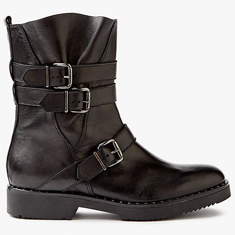Buy Somerset by Alice Temperley Priston Biker Boots, Black Online at johnlewis.com