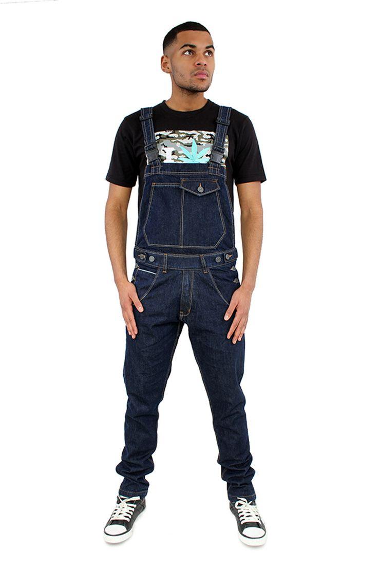 Cool Slim Fit Dungarees for men. #festivalwear 2014 #overalls #denimdungarees