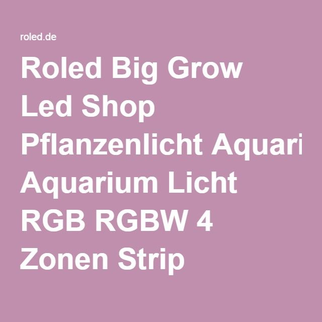 Roled Big Grow Led Shop Pflanzenlicht Aquarium Licht RGB RGBW 4 Zonen Strip Lichterketten Magic UFO Hauslicht