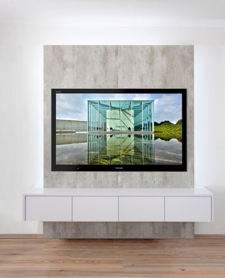 Tv Wand Breite 1 600 Mm Mit Sideboard 4 Turig Farbkombination