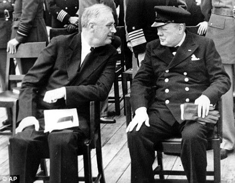 US President Franklin D. Roosevelt and Winston Churchill in 1941