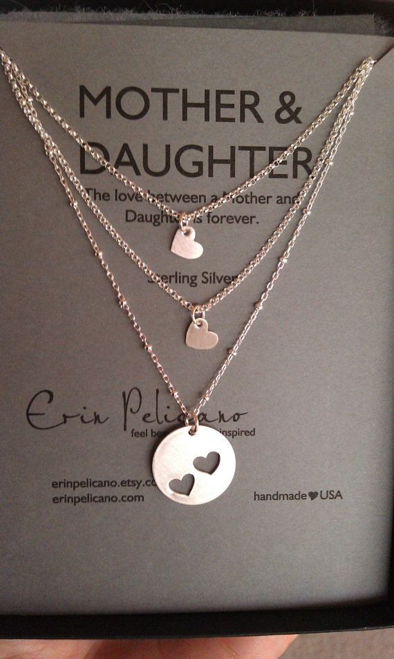 Mother Two Daughters Necklace Set // Inspirational by erinpelicano, $115.00