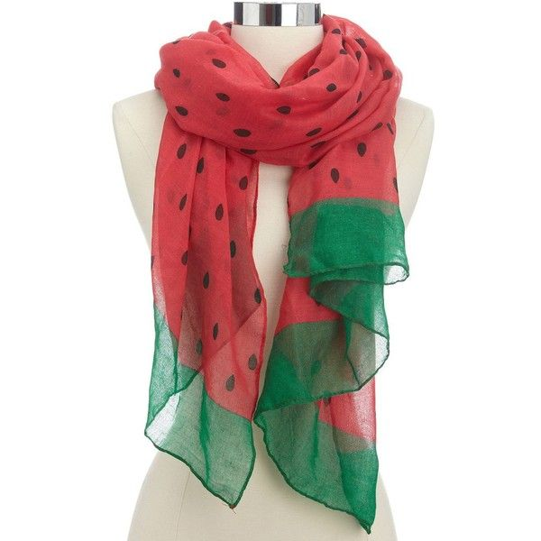 Charlotte Russe Watermelon Print Scarf