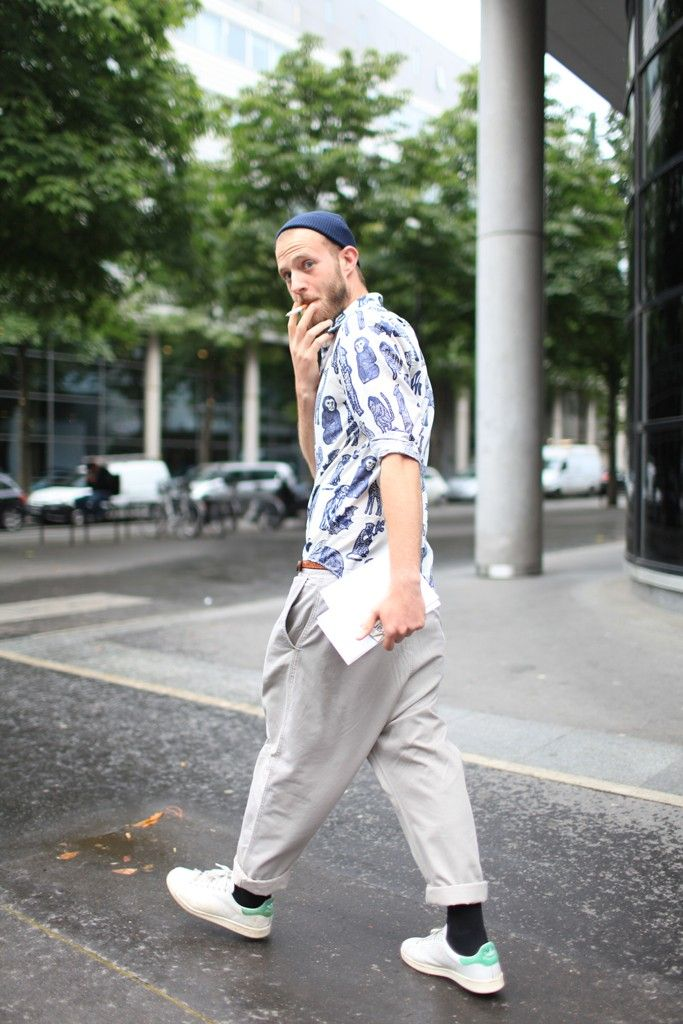 Paris Men's Fashion Week street style Spring 2015 #monkey #print