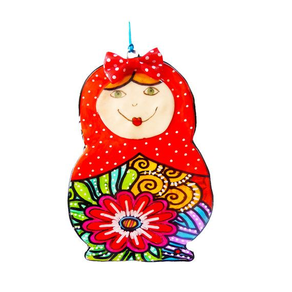 Matryoshka Russian Nesting Dolls This lovely matryoska made all with polymer clay and very popular now This lovely matryoska can decorate any wall in