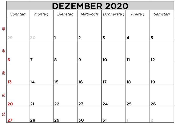 leerer kalender für dezember 2020  konzentrieren sie sich