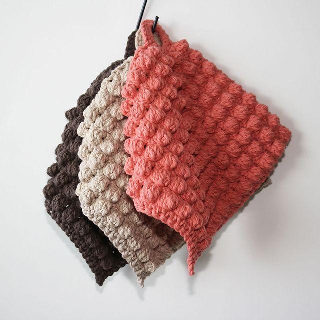 Ravelry: Textured Pot Holder pattern by Kim Miller
