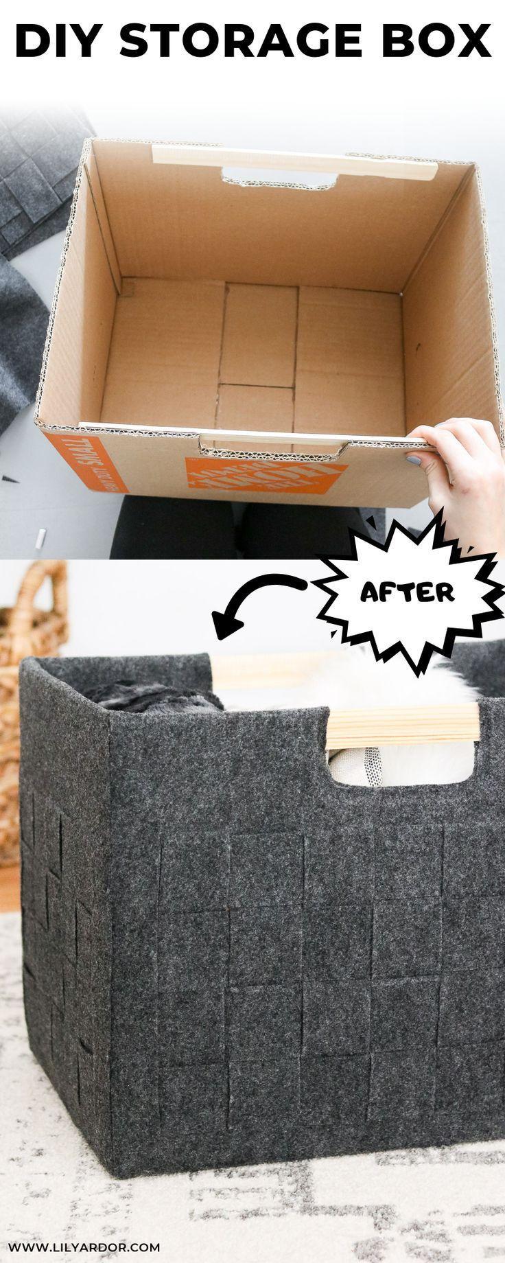 Boite De Rangement Bricolage Dans Une Boite En Carton Carton Diy Diy Rangement Boite En Carton