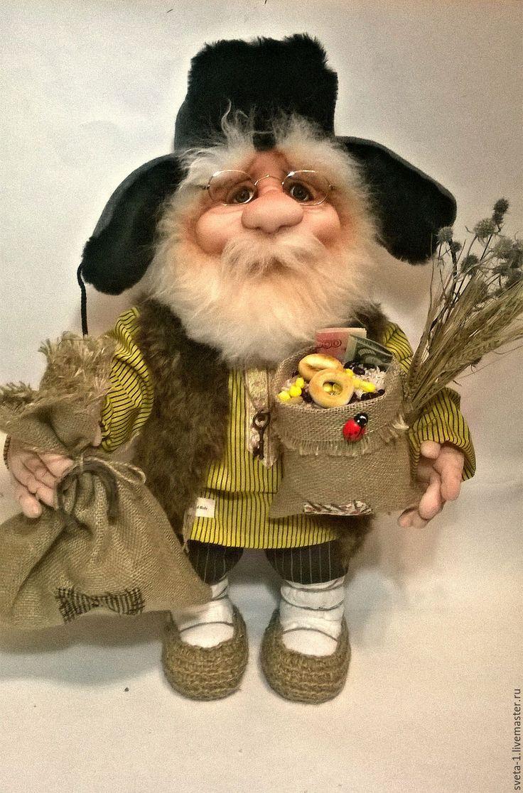 Купить домовой - желтый, домовой, оберег для дома, семейный очаг, интерьерная кукла, капрон, синтепон