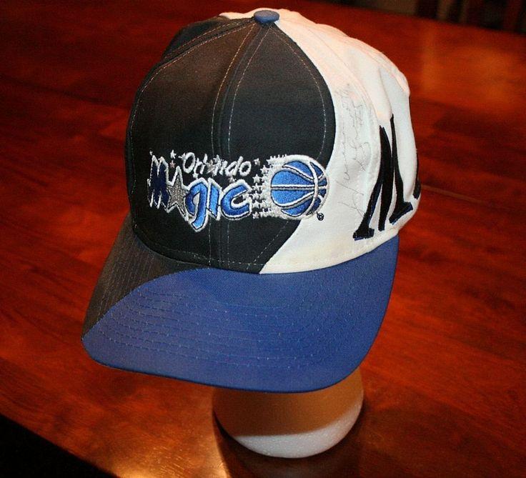 Vintage Orlando Magic Horace Grant Signed Snapback ball Cap Hat-sewn-1 size/Rare #OrlandoMagic