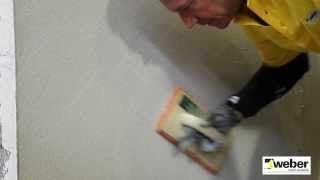Putsa innerväggar med gipsputs WeberSverige - YouTube