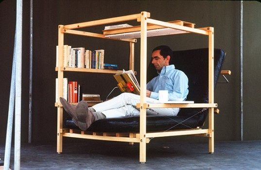 The link is all in German (I think), but kind of a neat canopied reading chair/pod.
