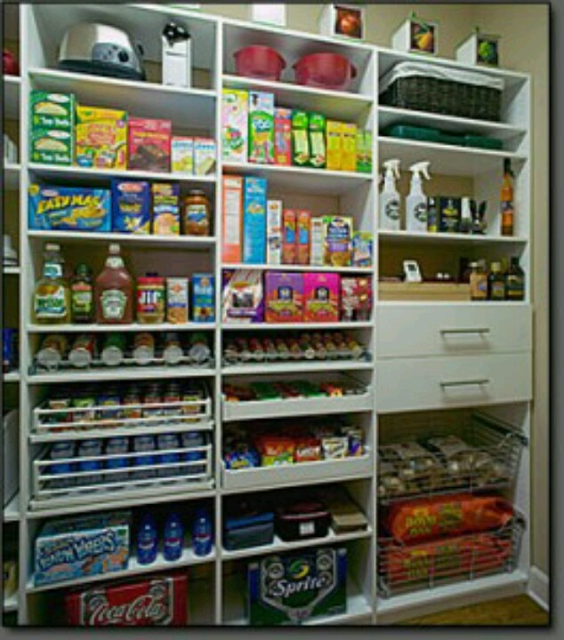Effective Pantry Shelving Designs For Well Organized: Nice Pull Outs For Canned Goods