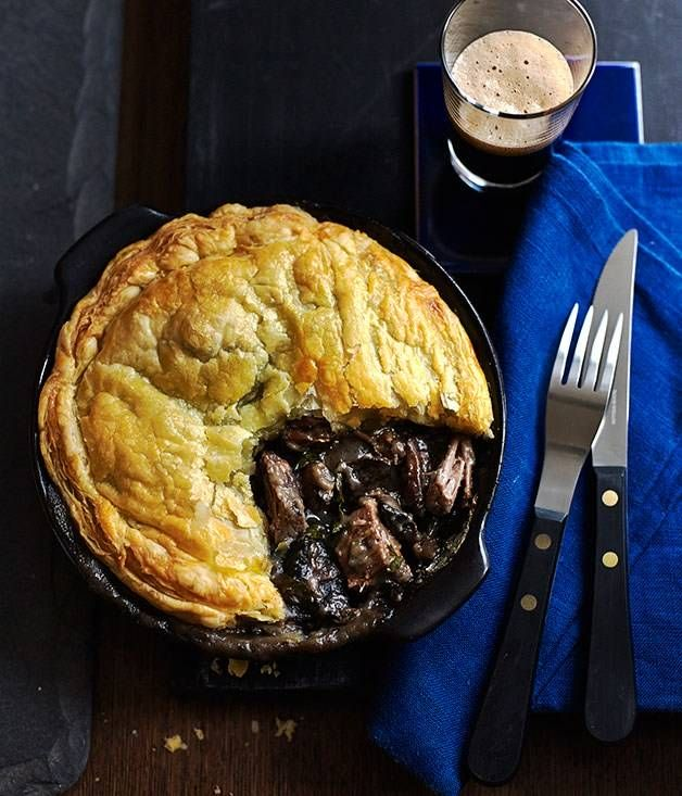 Beef brisket and mushroom pot pies recipe - Gourmet Traveller