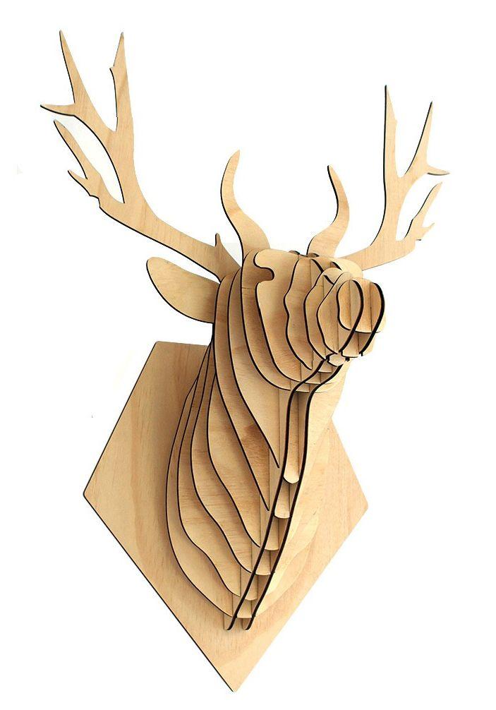 Ciervo Madera  Tamaño L $50.000  Tamaño M $35.000  (madera terciada)