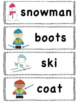 FREE Winter Words - Perfect for the pocket chart. FREE