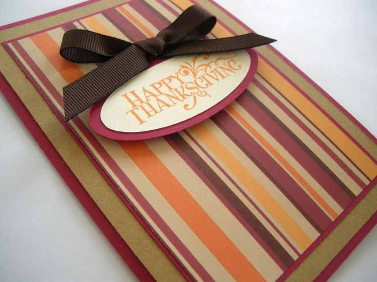 17 best ideas about Handmade Thanksgiving Cards on Pinterest ...