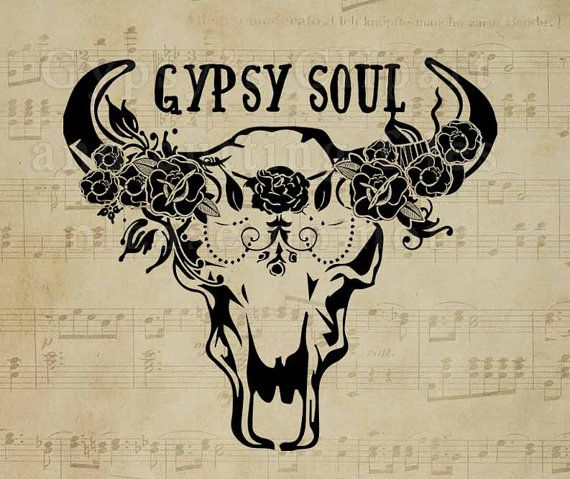 Bison Skull SVG  Cow Skull Gypsy Soul Wild Child door GypsysClipart