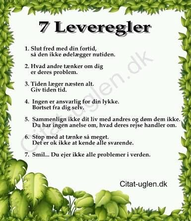 7 leveregler