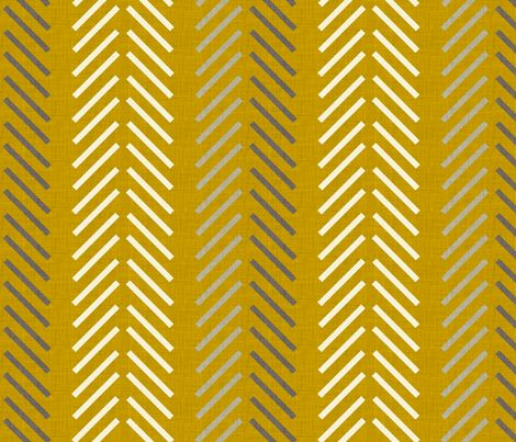yellow_feathers_linen fabric by holli_zollinger on Spoonflower - custom fabric