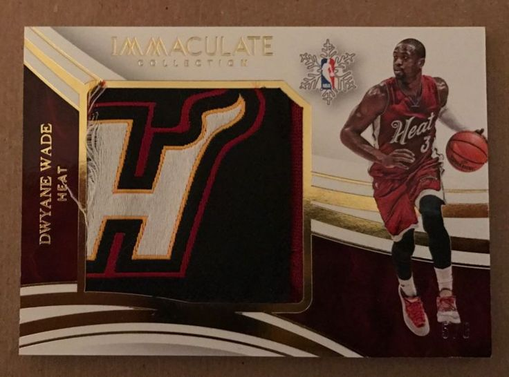 2015/16 IMMACULATE DWYANE WADE CHRISTMAS COLLECTION HEAT LOGO PATCH 5/8